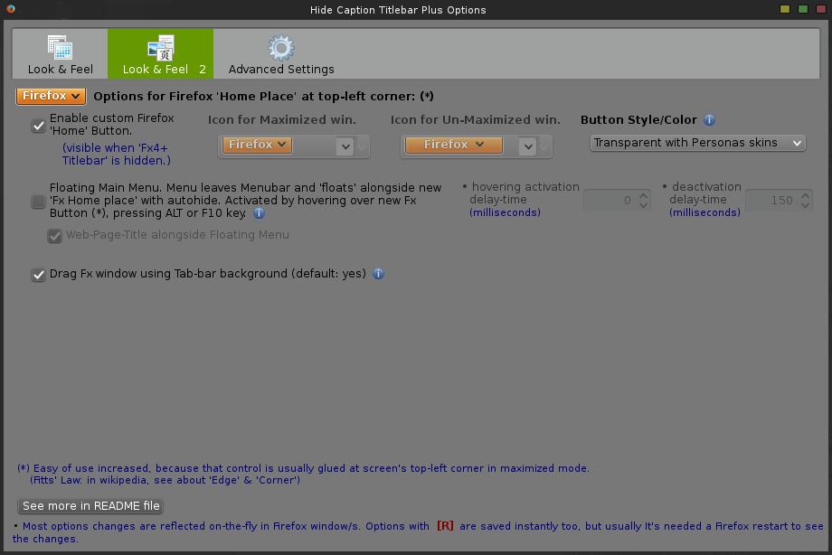Hide Caption Titlebar Plus - config - 2