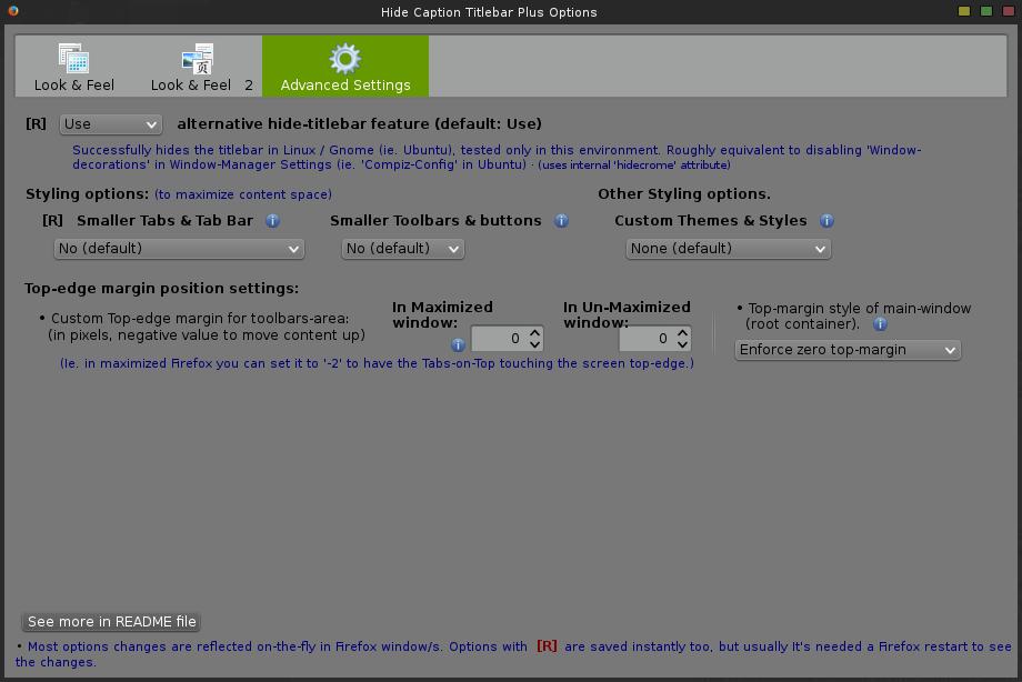 Hide Caption Titlebar Plus - config - 3