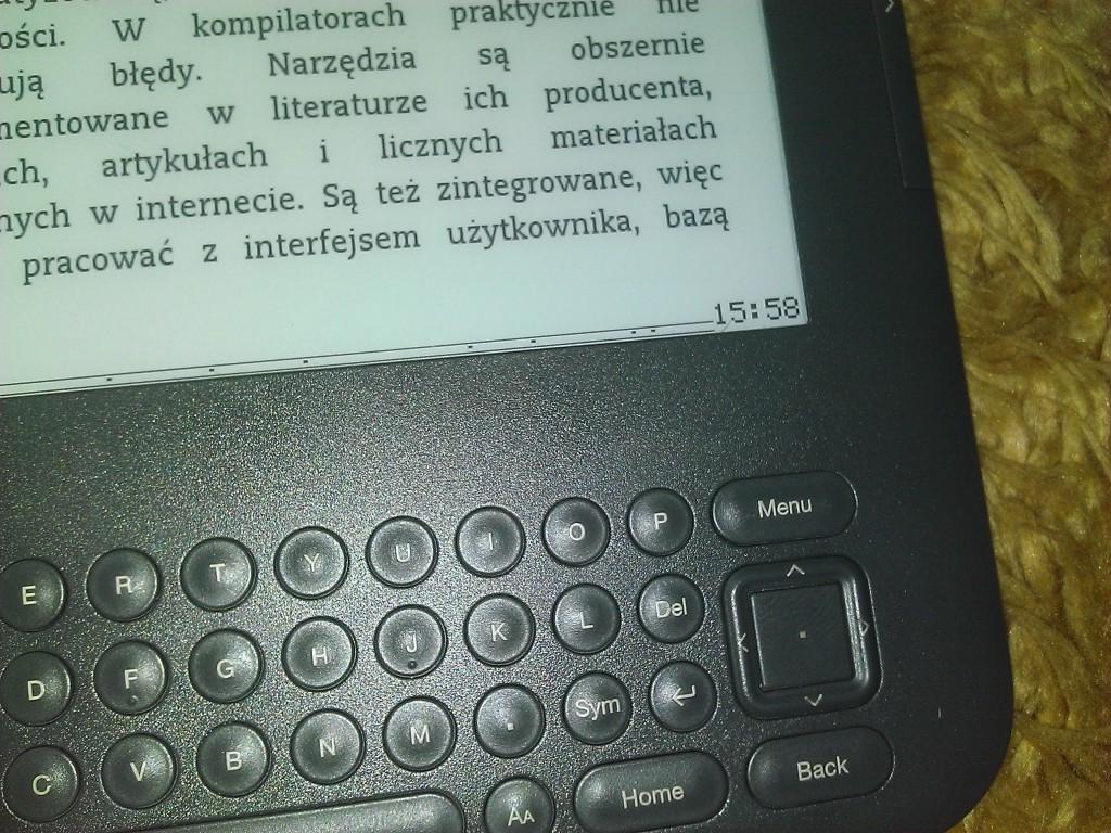 Kindle - zegarek