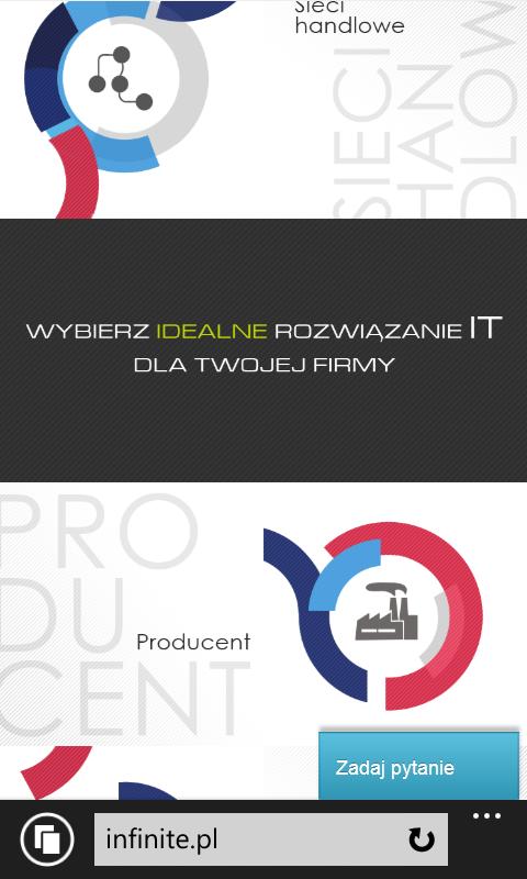 Infinite.pl na IE11